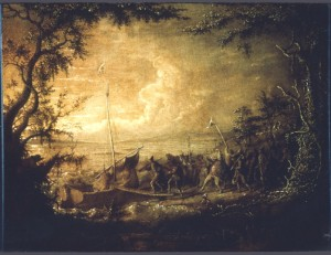 Embarkation from Communipaw, 1861 (Courtesy of Detroit Art Institute)