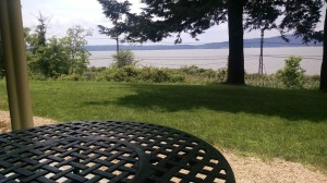 After the tour, I sat for a moment and enjoyed the view of the Hudson River (Photography by author).