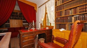 Washington Irving's Study at Sunnyside, Tarrytown, New York (Courtesy of Historic Hudson Valley).