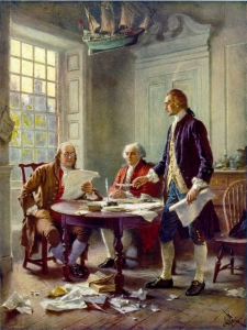 John Leon Gerome Ferris, Writing the Declaration of Independence, 1776 (Courtesy of the Library of Congress Prints and Photographs Division).
