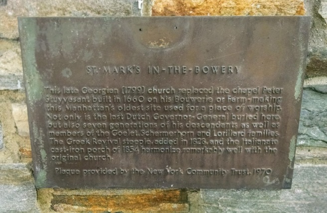 St Marks Plaque